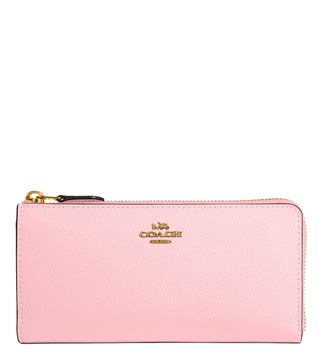 Coach Gold Blossom L Zip Medium Wallet