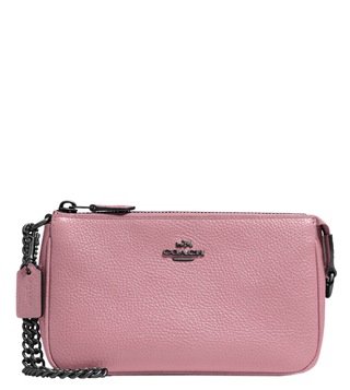 Coach Brass Rose Nolita 19 Medium Wristlet