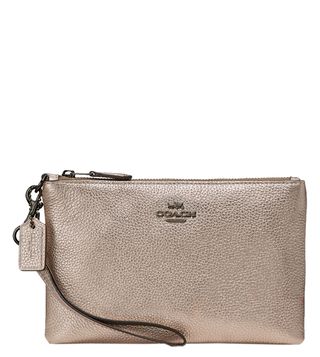 Coach Gunmetal Platinum Small Wristlet