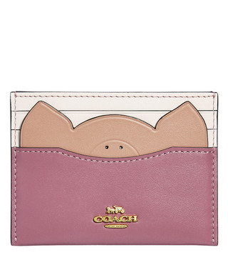 Coach Gold Rose Flat Small Card Case