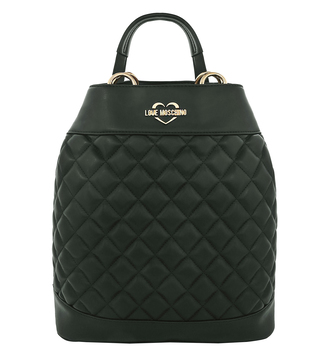Love Moschino Verde Super Quilted Medium Backpack