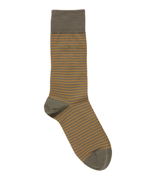 BOSS Dark Green Marc Striped Socks (Size 43-46)