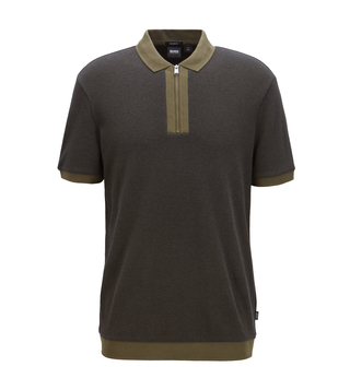 BOSS Payto Dark Green Comfort Fit Polo T-Shirt