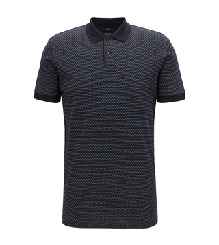 BOSS Phillipson Open Blue Slim Fit Polo T-Shirt