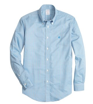 Brooks Brothers Blue Checks Yarn Dyes Regent Fit Shirt