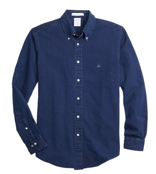 Brooks Brothers Navy Oxford Regent Fit Shirt