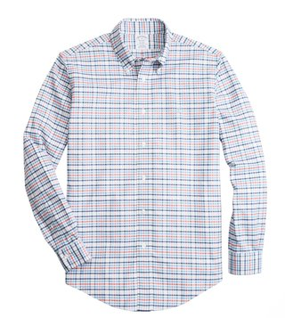 Brooks Brothers Open White Checks Yarn Dyes Regent Fit Shirt
