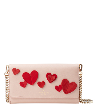 Kate Spade Warm Vellum Heart Franny Small Cross Body Bag