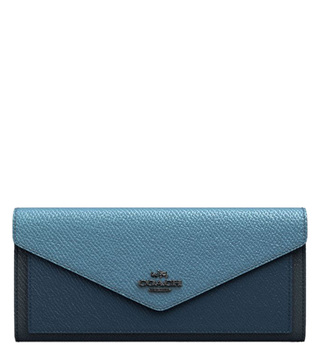 Coach Gunmetal Slate Multi Colorblock Soft Small Wallet