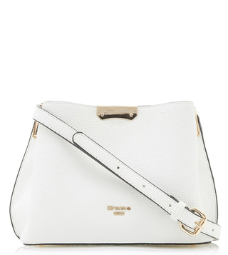 Dune London White Dinidarrow Large Cross Body Bag