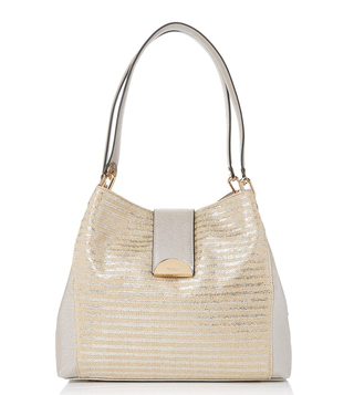 Dune London Silver Datsby DI Large Shoulder Bag
