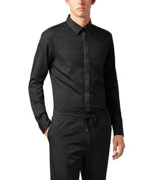 BOSS Ronni Black Slim Fit Casual Shirt