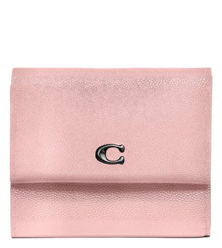 Coach Pewter Blossom Small Foldover Wallet