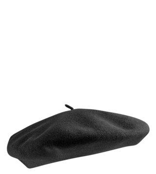 Polo Factory Black Gaucho Beret Hat