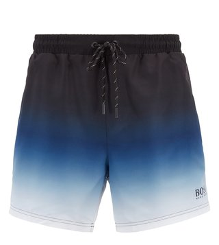 BOSS Open Blue Mandarinfish Regular Fit Swim Shorts
