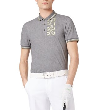 BOSS Medium Grey Paule Pro Slim Fit Polo T-Shirt