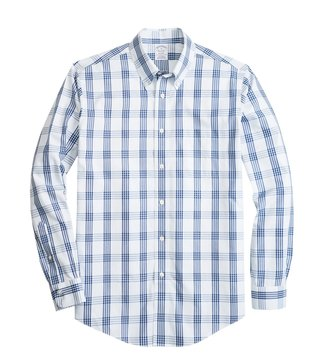 Brooks Brothers Open White Regent Fit Yarndyed Checked Shirt
