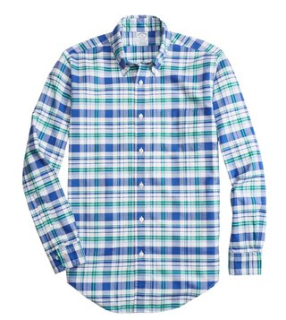 Brooks Brothers Blue Regent Fit Checked Shirt