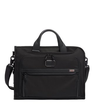 Tumi Black Alpha 3 Medium Portfolio Slim Brief