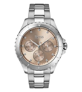 Hugo Boss Premiere 1502444 Gold Dial Watch For Women