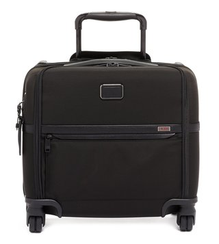 Tumi Black Alpha 3 Medium Top Handle 4 Wheeled Carry-On Luggage