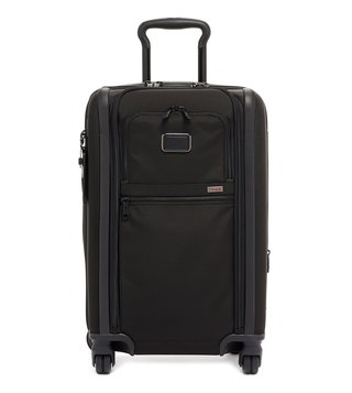 Tumi Black Alpha 3 Large Top Handle 4 Wheeled Carry-On Luggage