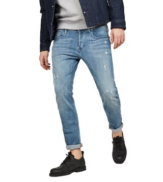 G-Star RAW Light Aged Destroy 3301 Slim Fit Jeans