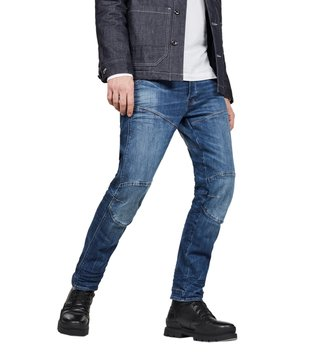 G-Star RAW Medium Indigo Aged 5620 3D Straight Fit Jeans