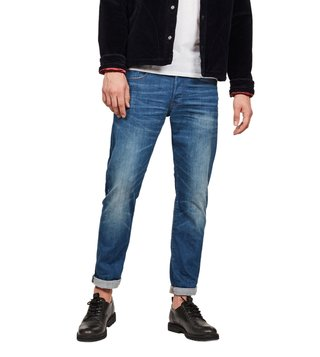 G-Star RAW Medium Aged 3301 Straight Tapered Fit Jeans