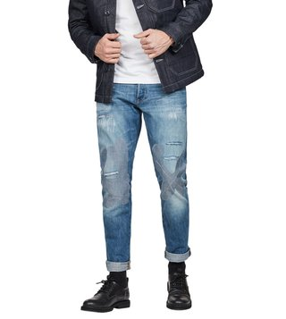 G-Star RAW Medium Aged Tape Restored 3301 Straight Tapered Fit Tape Jeans