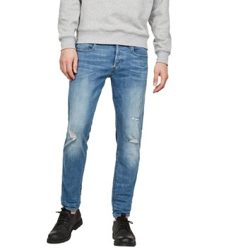 G-Star RAW New Medium Aged Destroy 3301 Slim Fit Jeans