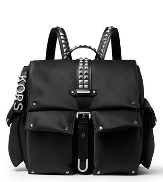 a2dbbf1bc MICHAEL Michael Kors Black Olivia Medium Studded Top Handle Backpack ...