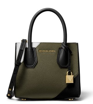 MICHAEL Michael Kors Olive Multi Mercer Mini Cross Body Bag