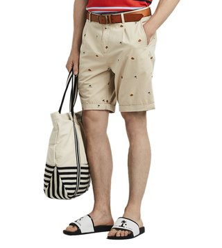 Scotch & Soda Beige Main Regular Fit Shorts