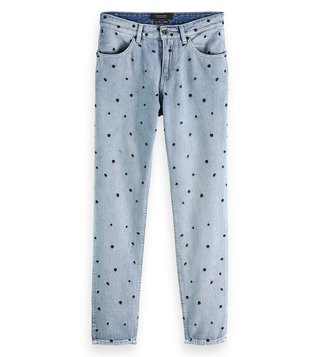 Scotch & Soda Right To The Top Bandit Boyfriend Fit Printed Jeans