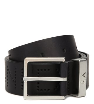 Armani Exchange Nero Perforated Waist Belt