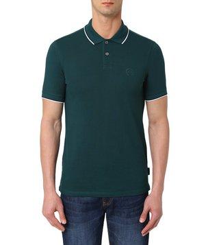 22d063b41bd Armani Exchange Ponderosa Pine Half Sleeves Slim Fit Polo T-Shirt ...