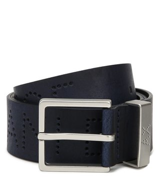 Armani Exchange Navy Perforated Waist Belt