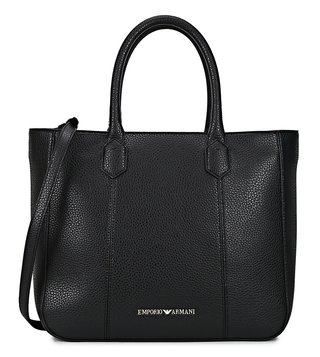Emporio Armani Nero Medium Satchel