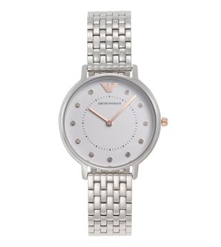 Emporio Armani Kappa AR80023 White Dial Watch for Women