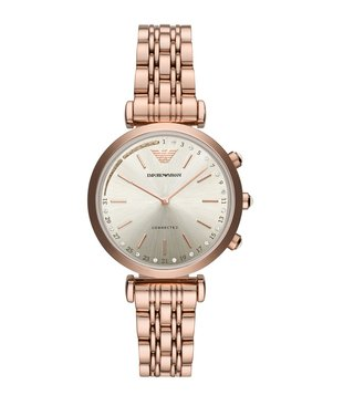 Emporio Armani ART3026 Beige Gianni T-Bar Smart Watch For Women