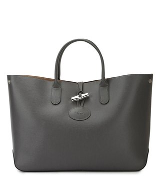 Longchamp Grey Roseau Large Tote