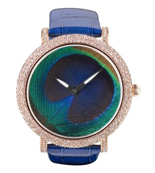 Jaipur Watch Company 90001RG Peacock Wrist Watch for Women