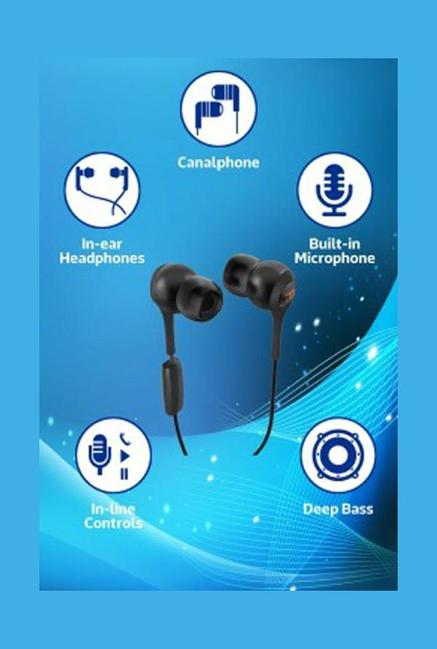 JBL T200A In-ear Headphones Black
