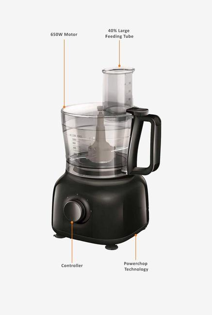 Philips Daily Collection HR7629/90 650W Food Processor (Black)