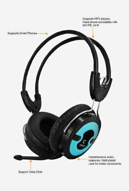 Circle CONCERT 203 SINGLE Over-Ear Headphone Black&Blue