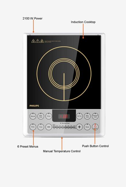 Philips HD4929/00 Induction Cooktop Black and Gold