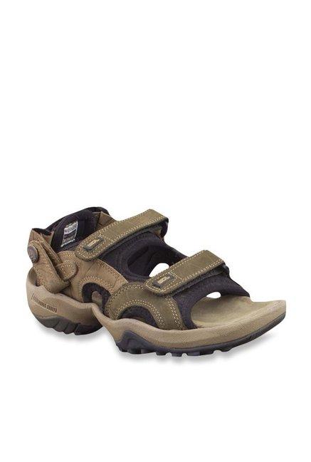 ac0fb85cec5f Buy Woodland Olive Floater Sandals Online at best price at TataCLiQ