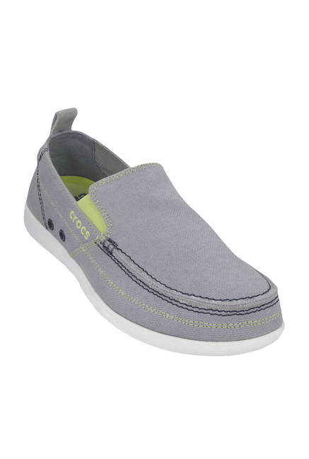 afb2de29a8b Buy Crocs Walu Light Grey   White Loafers Online at best price at ...