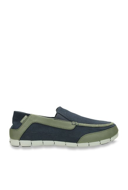 Crocs Torino Navy & Dusty Olive Loafers